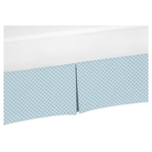 Blue & White Bed Skirt - Sweet Jojo Designs