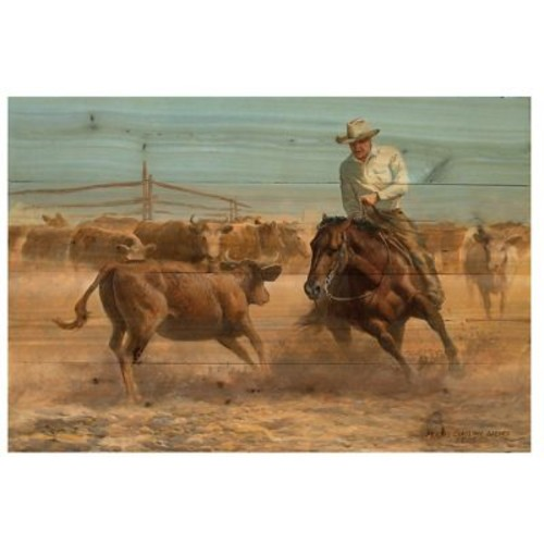 WGI GALLERY Working Girl by Persis Clayton Weirs Painting Print Plaque; 16'' H x 24'' W x 1'' D