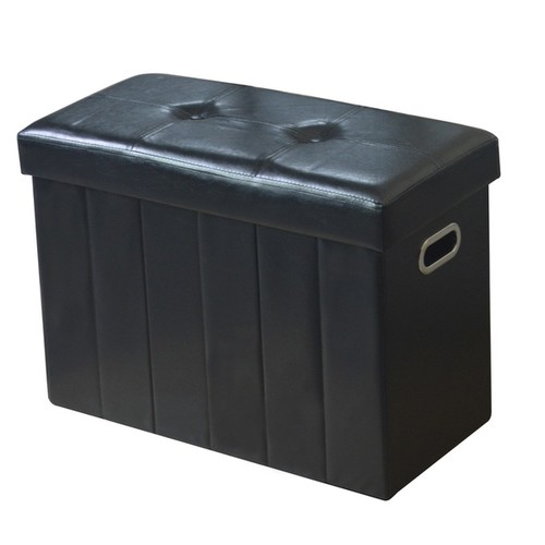 Simplify Black Collapsible Bench/Ottoman