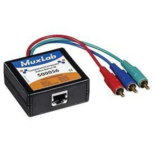Muxlab 500056 Component/Composite Video Balun, Male [1]