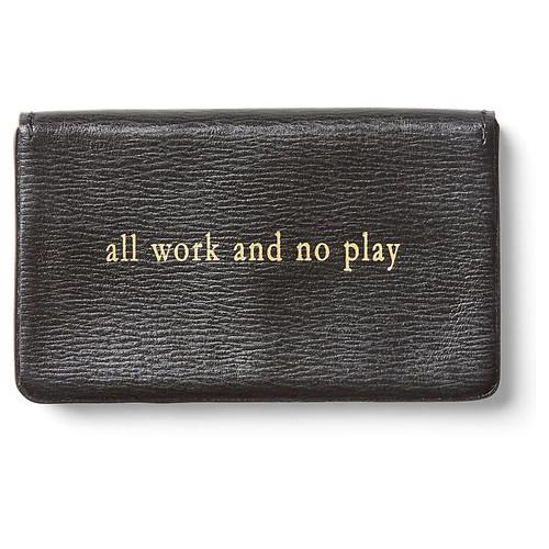 All Work Calfskin Card Case, Black