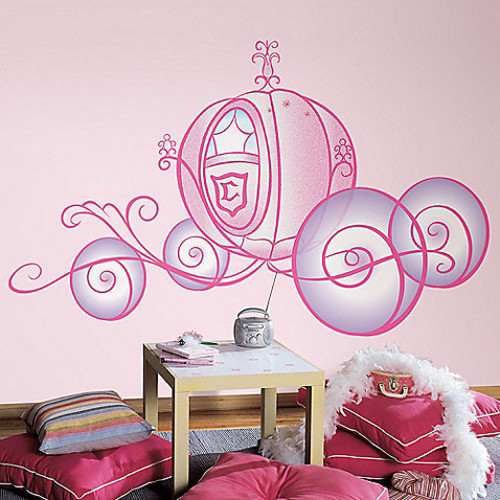 RoomMatesPeel and Stick Wall Decals in Giant Disney Princess Carriage