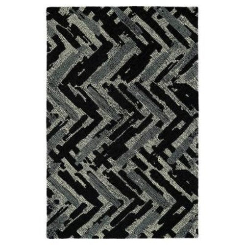 Kaleen Montage Black 9 ft. x 12 ft. Area Rug