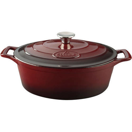 La Cuisine 4.75 Qt. Cast Iron Oval Dutch Oven