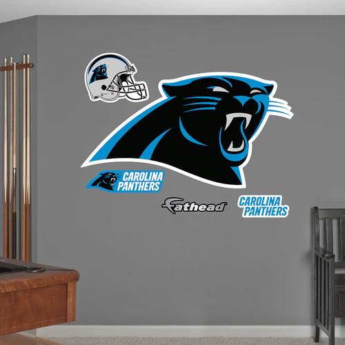 Fathead Carolina Panthers Logo Wall Decals