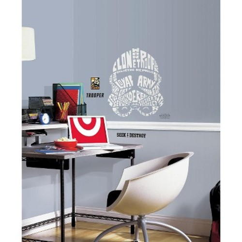 RoomMates 19 in. Multi Color Star Wars Typographic Clone Trooper Peel and Stick Giant Wall Decals