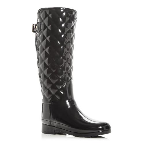 HUNTER Women'S Refined Gloss Quilted Rain Boots