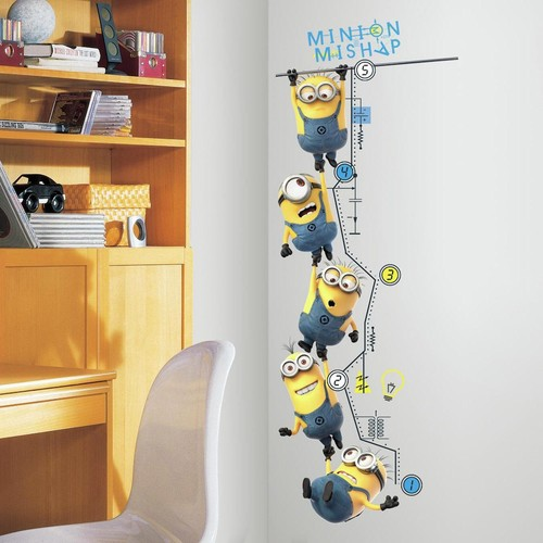 Despicable Me 2 Growth Chart Peel & Stick Wall Decals