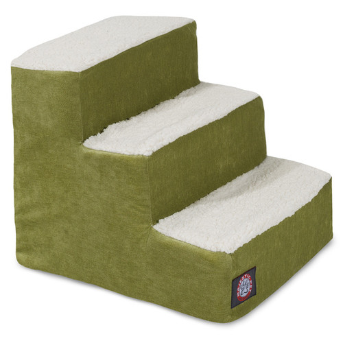 3 or 4 Step Villa Collection Sherpa Pet Steps by Majestic Pet