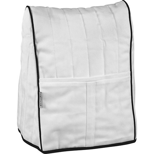 KitchenAid - Cloth Cover for Stand Mixers - White/Black