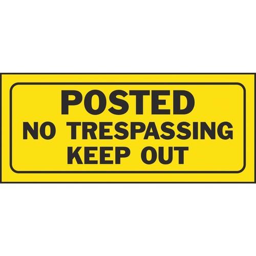 Hy-Ko Posted No Trespassing - 23004