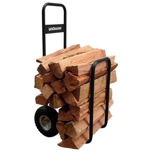 Landmann USA 82427 Log Caddy with Cover, Black [Black]