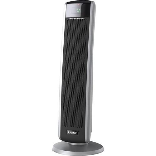 Lasko - Digital Ceramic Tower Heater - Gray/Black