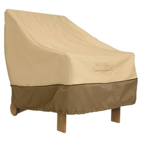 Classic Accessories Veranda High Back Patio Chair Cover [Pebble]