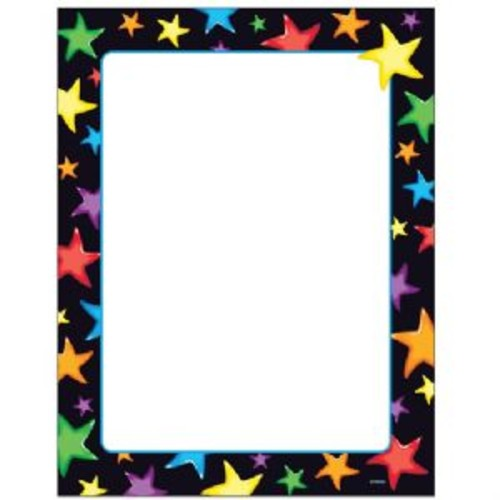 Trend Gel Stars Copy & Multipurpose Paper - 50/Pack, 8 1/2x11, Letter, Printer-Ready, Acid-Free, White/Assorted - T11413