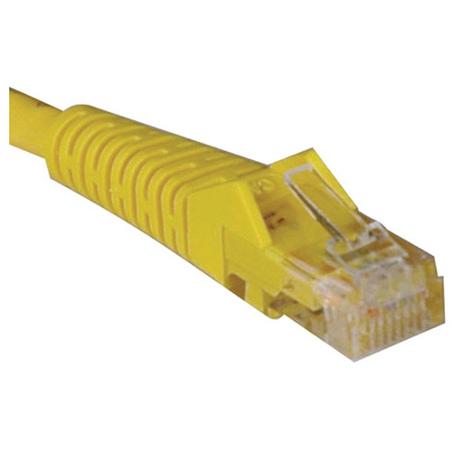 Tripp Lite N001-010-YW 10' Cat5e Cat5 350MHz Yellow Snagless Molded Patch Cable RJ45M/M - 10ft