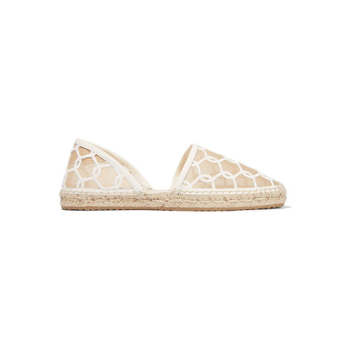 DREYA EMBROIDERED MESH ESPADRILLES