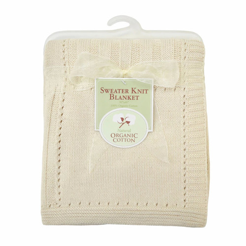 TL Care Organic Sweater Knit Blanket