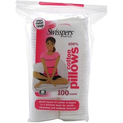 Swisspers Premium Cotton Squares Pillows 100 ea [option : Pack of 6]