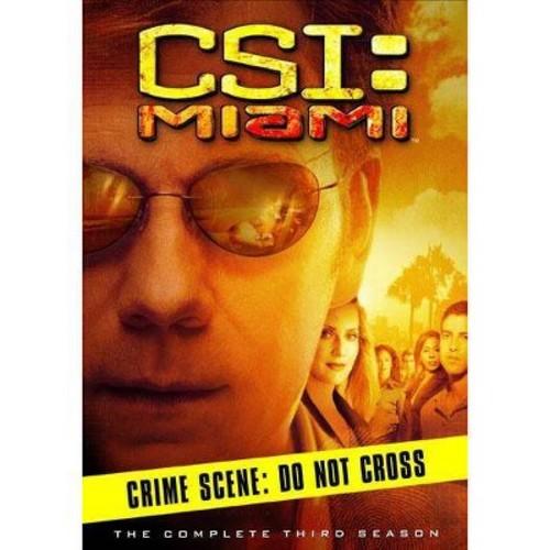 Csi:Miami complete third season (DVD)