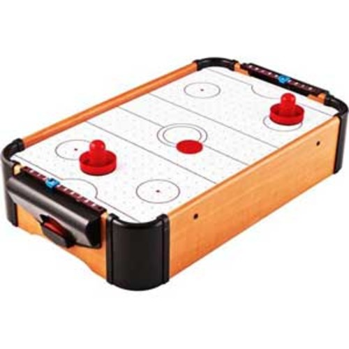 MicroGear MIni Air Hockey Wooden Tabletop Classic Battery Operated Game