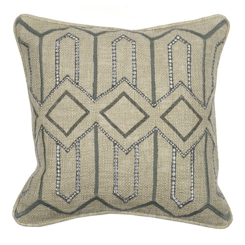 Set of 2 Artisan Renewal Etta Grey Pillow design by Villa Home