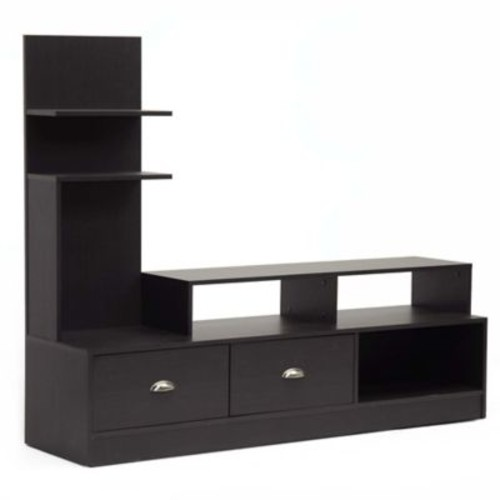 Baxton Studio Armstrong TV Stand in Dark Brown
