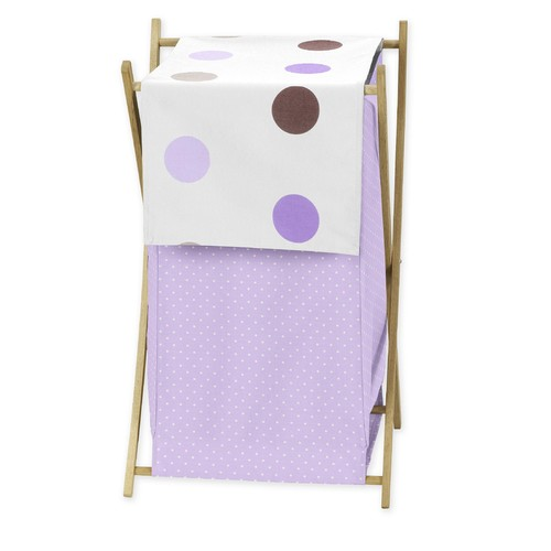 Sweet Jojo Designs Mod Dots Purple Collection Laundry Hamper
