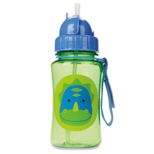 SKIP*HOP Zoo 12-Ounce Dino Straw Bottle
