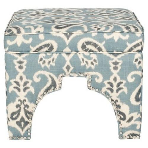 Safavieh Grant Ottoman Color: Blue / Grey and Off White