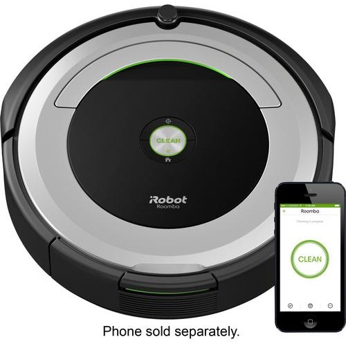 iRobot - Roomba 690 App-Controlled Robot Vacuum - Black/Silver