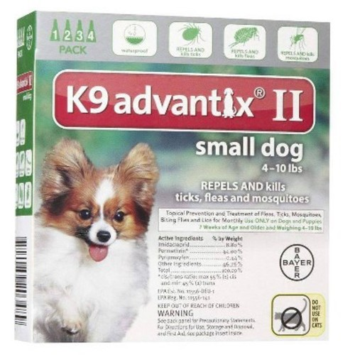 Advantix II for Dogs Between 0-10 lbs 4 Month Supply