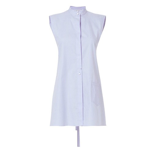 HELMUT LANG Apron Striped Oxford Shirt