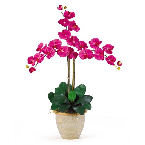 Nearly Natural 1017-BU Triple Phalaenopsis Floral Arrangements, Beauty pink