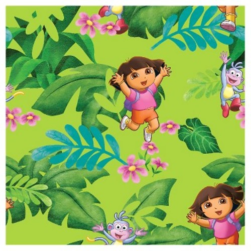 Dora The Explorer Jungle Fun Fabric