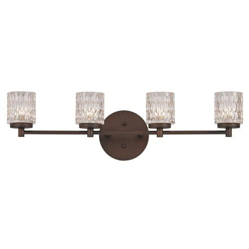 Bayou-4-Light Rubbed Oil Bronze Bath Light