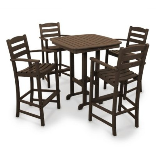 POLYWOOD 5-pc. La Casa Cafe Bar Chair & Table Set - Outdoor