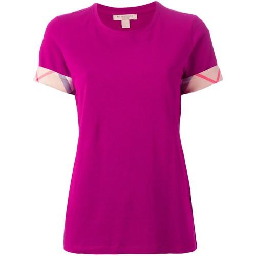 BURBERRY BRIT 'House Check ' Cuffs T-Shirt