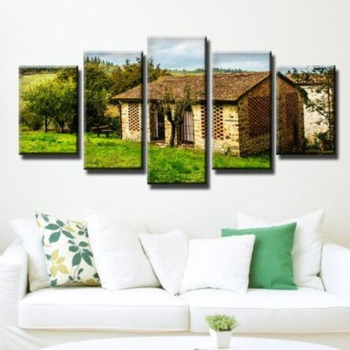 Ready2hangart 'Tuscan Cottage' by Bruce Bain 5 Piece Photographic Print on Canvas Set