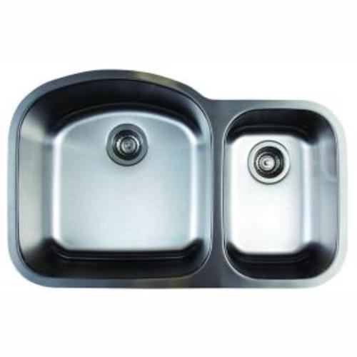 Blanco Stellar Undermount Stainless Steel 32 in. 1.6 Double Bowl Kitchen Sink