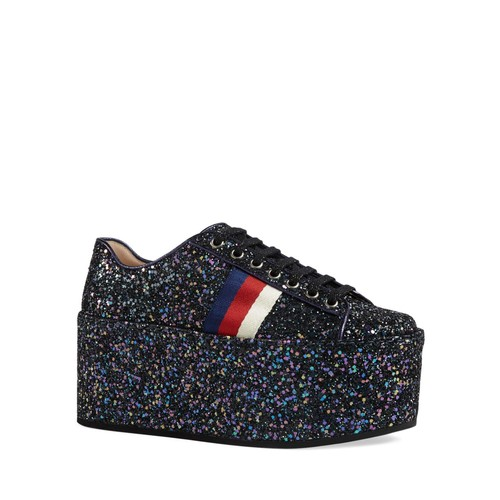 GUCCI Women'S Peggy Platform Low Top Lace Up Sneakers