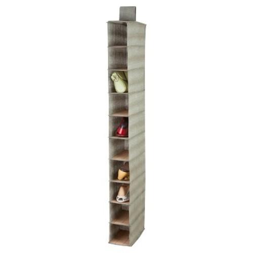 Honey-Can-Do Bamboo 10-Shelf Shoe Organizer - Grey
