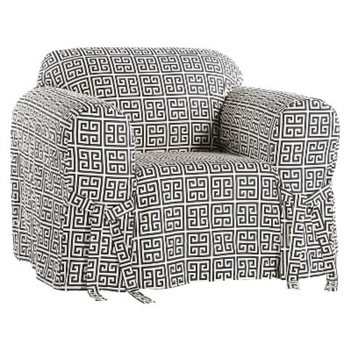 Roman Key Chair Slipcover