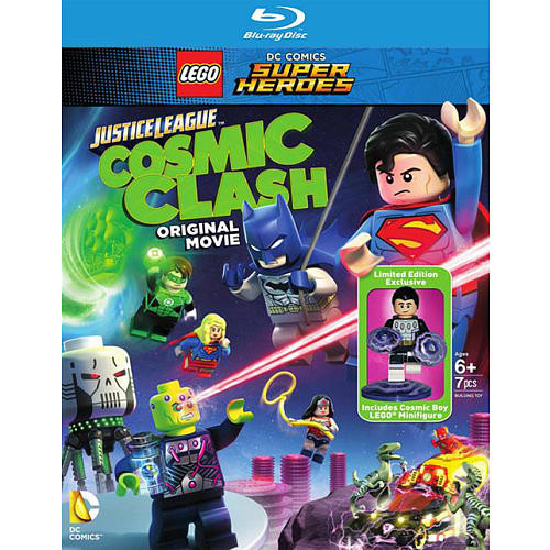 LEGO DC Comics Super Heroes: Justice League Cosmic Clash Blu-Ray with 7 Piece Action Figure