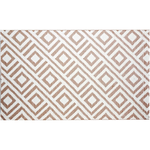 b.b.begonia Malibu Reversible Design Beige and White Outdoor Area Rug (4' x 6')