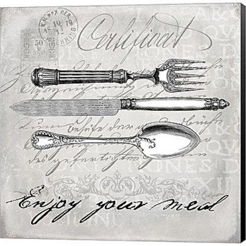 Metaverse Art Vintage Cutlery I Gallery Wrapped Canvas Wall Art