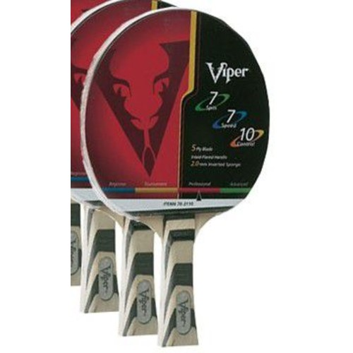 GLD Products Viper 7-7-10 Table Tennis Paddle; Striped
