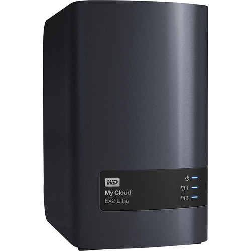 WD - My Cloud EX2 Ultra 16TB 2-bay External Network Storage (NAS) - Charcoal Gray