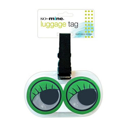 So-Mine Googly Eye Luggage Tag, Assorted Colors