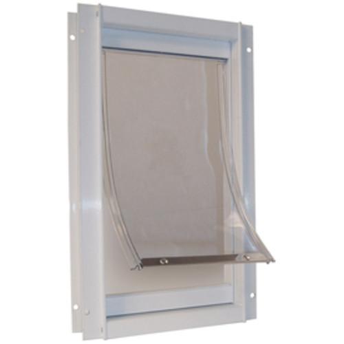 Ideal Pet Products Deluxe Medium White Aluminum Door Pet Door (Actual: 11.25-in x 7-in)